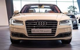 Audi A8L độc đáo với màu sơn trắng như hoa mộc lan