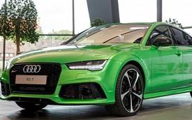 """Audi RS7 """"ngon mắt"""" hơn với màu sơn táo xanh"""