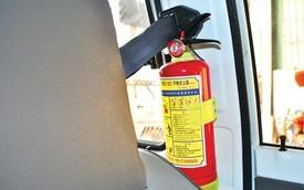 Bị phạt đến 500.000 Đồng nếu ô tô không có bình chữa cháy