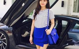 Hot girl Midu khoe dáng bên BMW i8 mới mua của hôn phu đại gia