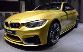 """BMW M4 """"đập vào mắt"""" với màu sơn vàng độc đáo"""
