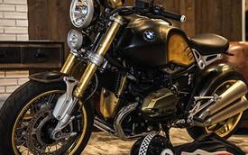 BMW R nineT phủ vàng lá của nghệ nhân xăm hàng đầu thế giới