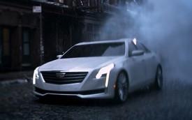 Xe sang Cadillac CT6 mới bất ngờ lộ diện trong quảng cáo
