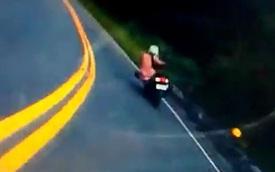 Cô gái lái xe ga, ôm cua như tay đua MotoGP