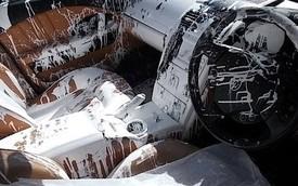 """""""Thảm họa"""" bảo hiểm: Nội thất xe sang Maserati bị đổ đầy sơn trắng"""