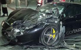 Ferrari 458 Italia đâm Range Rover tại đất thánh Jerusalem
