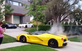 Đua tốc độ trên phố, Ferrari LaFerrari của Hoàng thân Qatar bốc khói nghi ngút