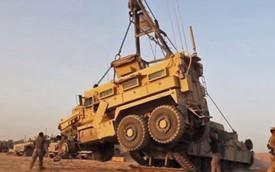 Xem cảnh giải cứu xe chống phục kích bằng mìn MRAP tại Afghanistan