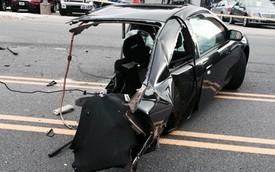 Tai nạn kinh hoàng khiến một chiếc Honda Civic bị đứt đôi