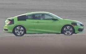 Honda Civic Coupe 2016 lộ diện trần trụi trước ngày ra mắt