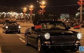 Xe sang Trung Quốc Hồng Kỳ L5 diễn tập diễu hành tại Belarus