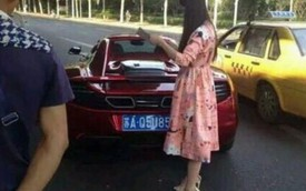 Hot girl lái siêu xe McLaren 12C gây tai nạn