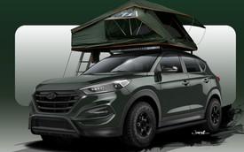Hyundai giới thiệu Tucson phiên bản dựng lều trên nóc xe