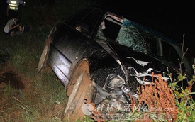 Lái Audi gây tai nạn, bỏ trốn với một nửa xác nạn nhân trên xe