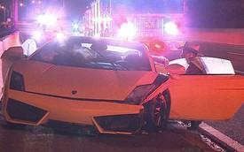 Siêu xe Lamborghini Gallardo cho thuê bị bỏ rơi sau tai nạn