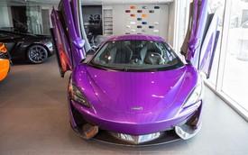 """Siêu xe """"giá rẻ"""" McLaren 570S màu tím sắp được đưa về Việt Nam"""