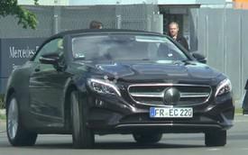 Bắt gặp Mercedes-Benz S-Class Cabriolet trần trụi trên đường phố