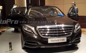 Cận cảnh xe siêu sang Mercedes-Maybach S600 tại Hà Nội