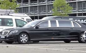 Quá dài, Mercedes-Maybach S600 Pullman chiếm hẳn 2 chỗ đậu xe