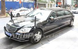 Cận cảnh cặp xe Mercedes-Benz chống đạn của Bộ Ngoại giao trên đường Hà Nội