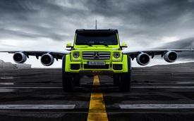 Xe việt dã Mercedes-Benz G500 4×4² đọ dáng cùng máy bay Airbus A380