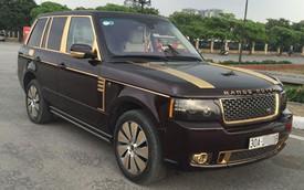 Range Rover của đại gia Móng Cái được mạ thêm vàng
