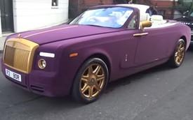Rolls-Royce Phantom bọc nhung màu tím Huế lòe loẹt dạo phố