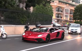 """Siêu xe Lamborghini Aventador SV cho thuê """"gào rú"""" trên đường phố"""