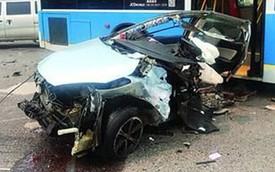BMW vượt đèn đỏ, chạy ở 150 km/h, xé Mazda làm đôi