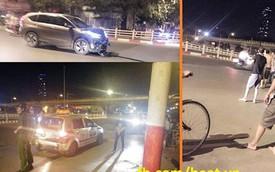 Hà Nội: Tránh xe đạp đi ngược chiều, Honda CR-V húc đuôi taxi