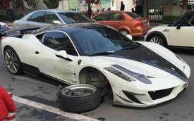 Siêu xe Ferrari 458 Italia độ Mansory long bánh giữa đường