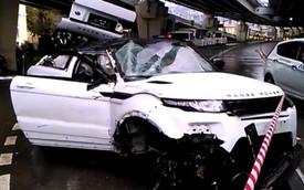 Range Rover Evoque rơi tự do 20 mét từ trên cầu xuống