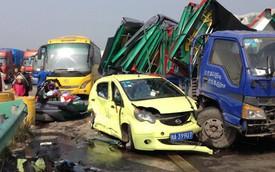 Sương khói dày đặc gây tai nạn liên hoàn giữa 48 ô tô