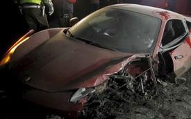 Tiền vệ Juventus gặp tai nạn vì say rượu khi lái siêu xe Ferrari