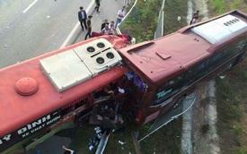 Tai nạn xe khách trên cao tốc Nội Bài – Lào Cai, 2 phụ lái tử vong