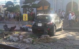 Tàu hỏa đâm Nissan Qashqai trước cổng chùa, 6 người thương vong