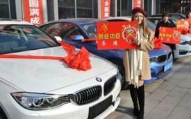 Cô chủ 21 tuổi thưởng xe sang BMW cho nhân viên