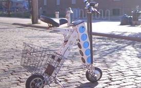 URB-E - Scooter nhỏ xinh kiêm xe đẩy chở hàng siêu thị