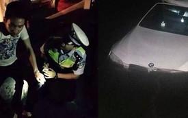 Mải nghịch điện thoại, người đàn ông lao xe BMW xuống hồ