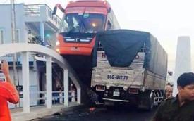 """Cần Thơ: Tránh ôtô tải, xe khách """"làm xiếc"""" trên cầu"""