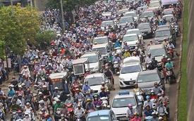 Huy động thêm 200 cảnh sát cơ động chống ùn tắc ở Hà Nội