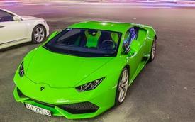 Lamborghini Huracan của nhà Phan Thành nổi bật trên phố đêm