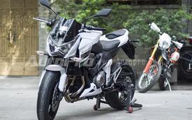 Cận cảnh Kawasaki Z800 ABS màu trắng đầu tiên tại Hà Nội
