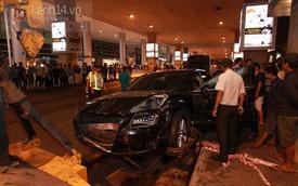 Hiện trường la liệt người bị thương trong vụ tai nạn xe Audi ở sân bay Tân Sơn Nhất