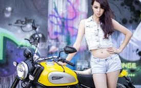 Top 10 Hoa hậu Việt Nam 2010 bất ngờ biến hoá bên Ducati Scrambler