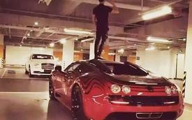 Thanh niên trèo lên đầu siêu xe triệu đô Bugatti gây bức xúc