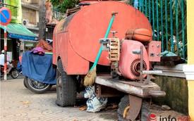 """Nhiều xe chữa cháy mini """"trùm mền"""", người dân Sài Gòn tự chế xe dập lửa"""