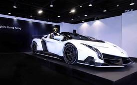 Siêu xe hiếm Lamborghini Veneno Roadster ra mắt tại Hồng Kông