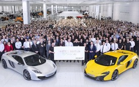 McLaren ăn mừng siêu xe khung sợi carbon thứ 5.000 xuất xưởng