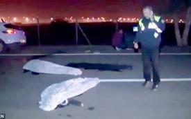 Nằm giữa đường selfie với máy bay, hai thanh niên bị xe cán chết